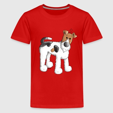 Funny Fox Terrier - Dog - Dogs - Kids' Premium T-Shirt