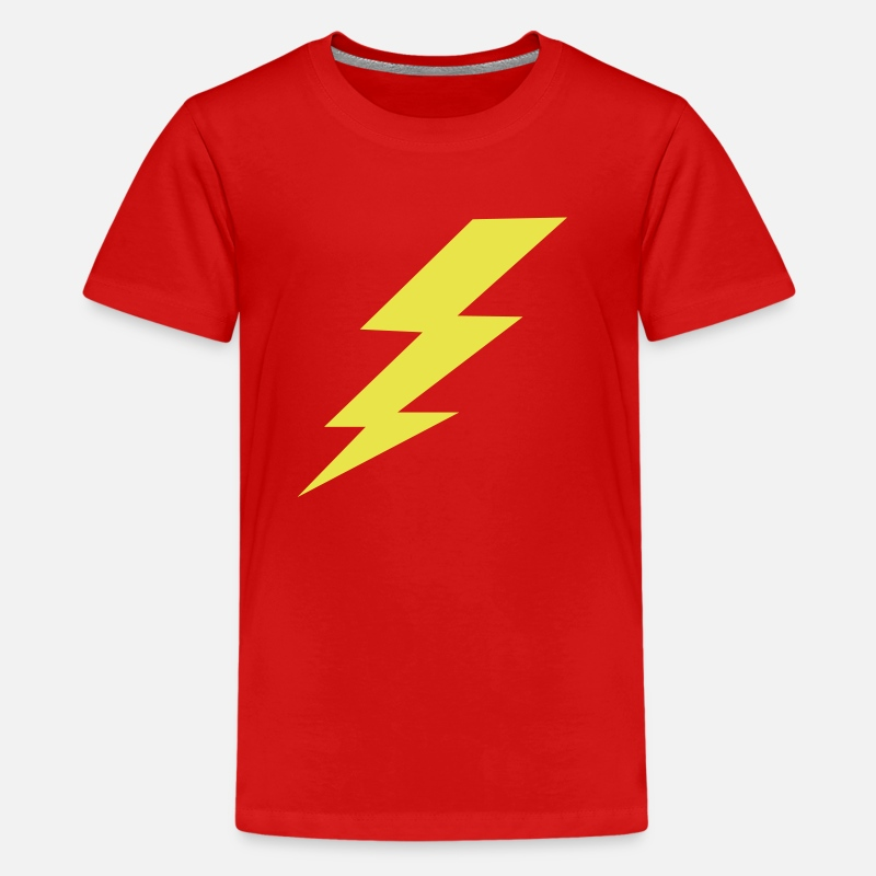 Bolt T-Shirts - lightning_bolt_kids_shirts - Kids' Premium T-Shirt red