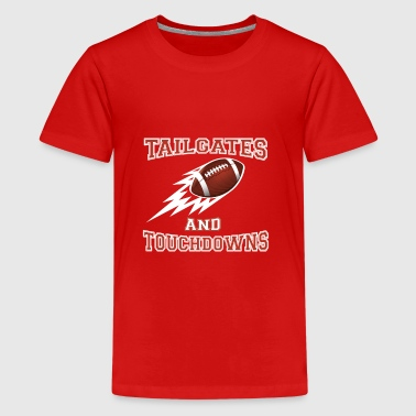Tailgates and Touchdowns Thanksgiving Football - Kids' Premium T-Shirt