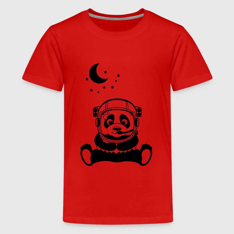 Pandanaut with sweet Panda with stars - Kids' Premium T-Shirt