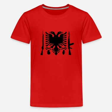 Honor Albanian Flag Ak 47 - Kids' Premium T-Shirt