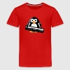 Penguin with a piano keyboard - Kids' Premium T-Shirt