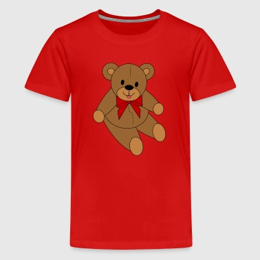Bear - Red Bow - Kids' Premium T-Shirt