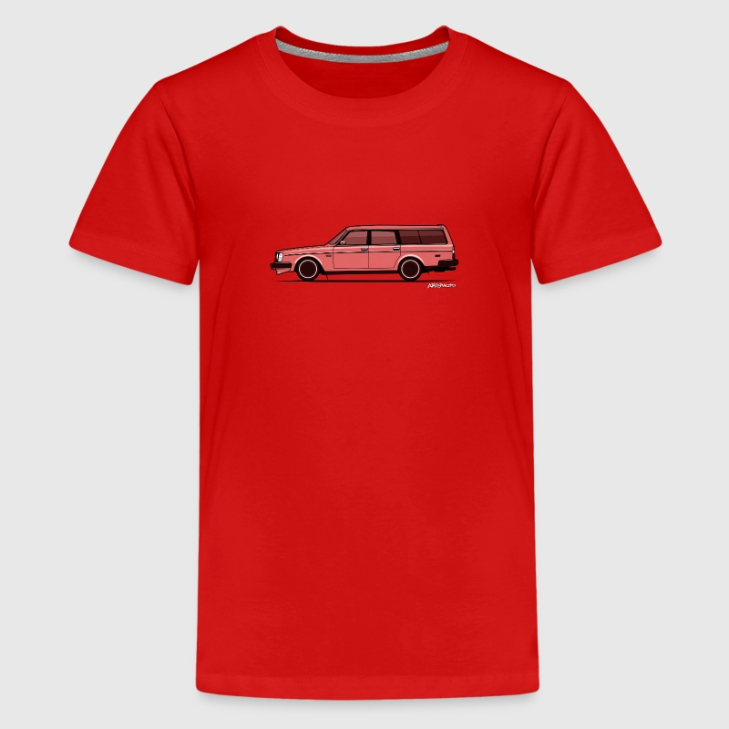 Brick Volvo 245 240 Wagon Transparent Ghost Print - Kids' Premium T-Shirt