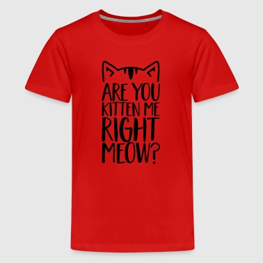 Are you kitten me right meow? Cat -Quotation-Funny - Kids' Premium T-Shirt