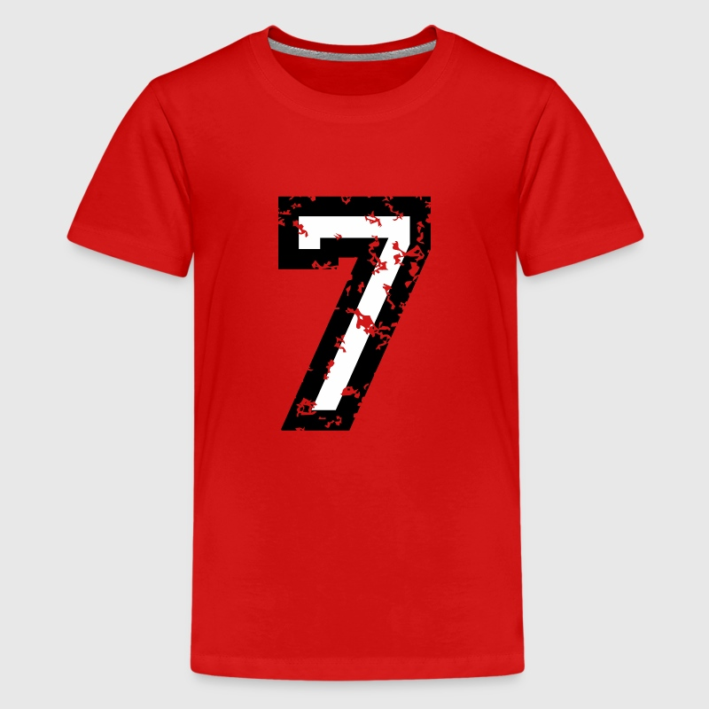 The Number Seven - No. 7 (two-color) white - Kids' Premium T-Shirt