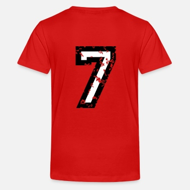 Two Seven The Number Seven - No. 7 (two-color) white - Kids' Premium T-Shirt