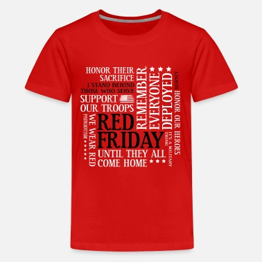 Red Friday Support Our Troops Red Friday Support Our Troops Military Word Cloud - Kids' Premium T-Shirt