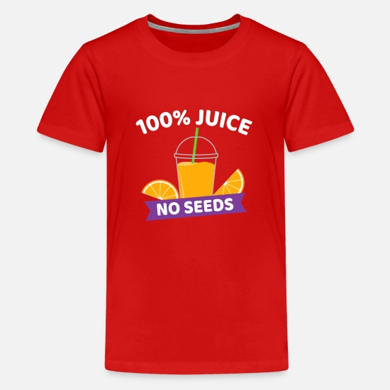 100% Juice No Seeds Funny Post Vasectomy T-Shirt Kids