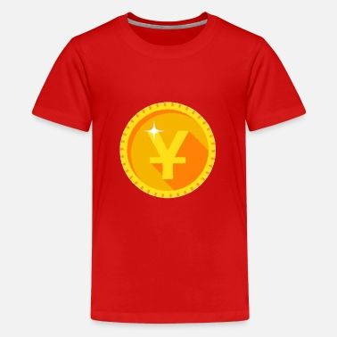 Golden Coin Yen Gold Coin - Kids' Premium T-Shirt