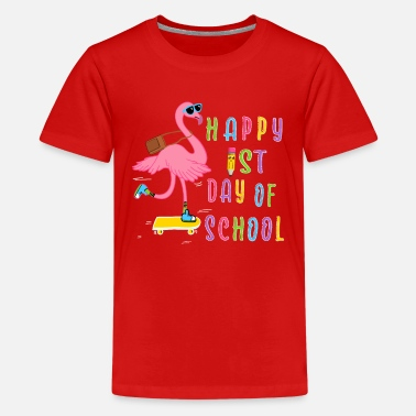 First Day Of School First day of School Flamingo - Kids' Premium T-Shirt