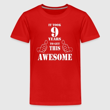 9th Birthday Get Awesome T Shirt Made in 2008 - Kids' Premium T-Shirt