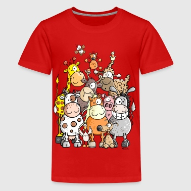 Giant Pile Of Animal - Kids' Premium T-Shirt