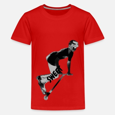 Scooter Picking Up Speed - Stunt Scooter Boy - Kids' Premium T-Shirt