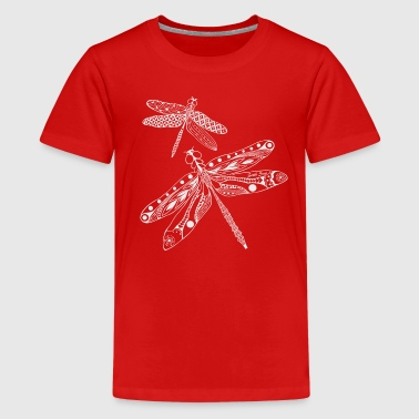 Dragonfly fairy - Tribal Polynesian Design - Kids' Premium T-Shirt