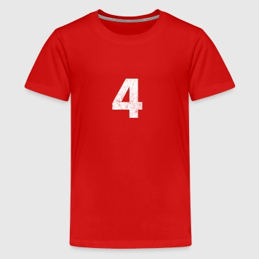 4 distressed,4, Four, Number Four, Number 4 - Kids' Premium T-Shirt