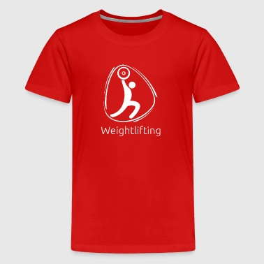 Weightlifting_white - Kids' Premium T-Shirt
