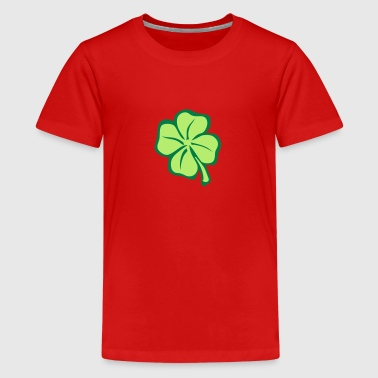 4 leaves clover lucky 1 - Kids' Premium T-Shirt