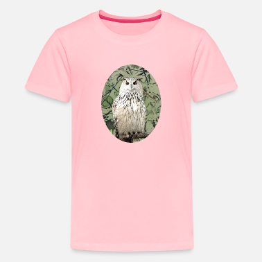 Owl awesome cute snowy owl gift bird lovers - Kids' Premium T-Shirt