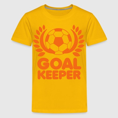 GOAL KEEPER with gold leaf circlet - Kids' Premium T-Shirt
