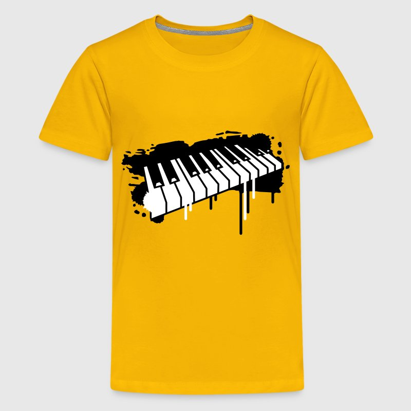 Piano keyboard in graffiti style - Kids' Premium T-Shirt