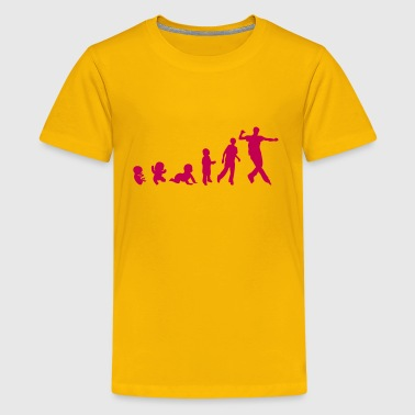 roller sports man human evolution - Kids' Premium T-Shirt