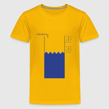 WaterTank with levelswitches and valve - Kids' Premium T-Shirt