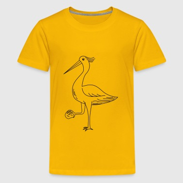 The heron with a stone - Kids' Premium T-Shirt