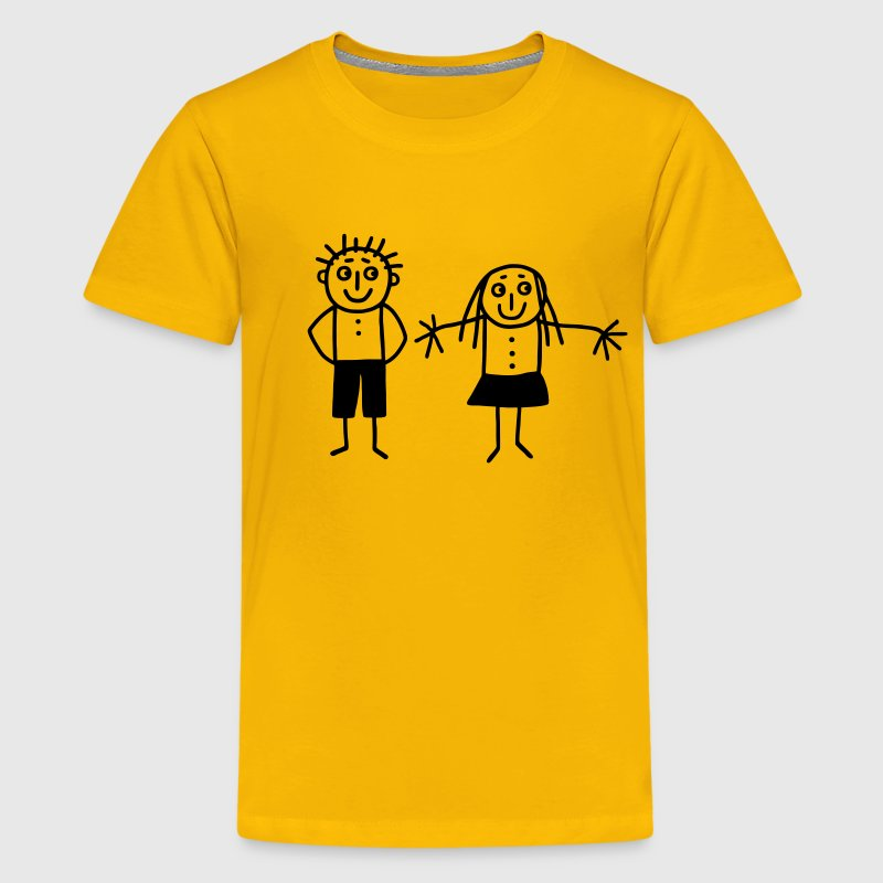 Mom & Dad - Brother & Sister - Kids' Premium T-Shirt