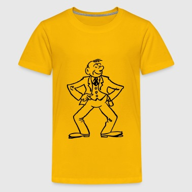 cartoon man - Kids' Premium T-Shirt