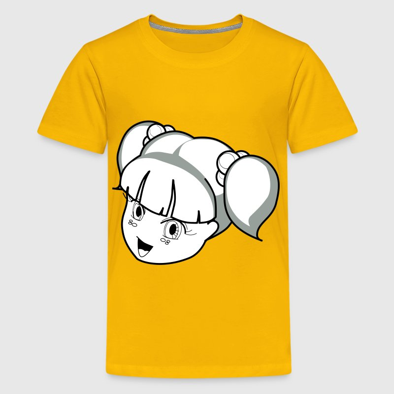 Anime Girl Outline - Kids' Premium T-Shirt