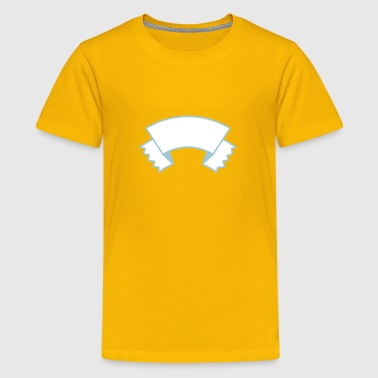 Banner curved and torn - Kids' Premium T-Shirt