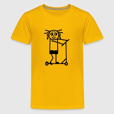 Kick Scooter / board - Girl - Kids' Premium T-Shirt