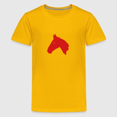 shadow figure horse head 702 - Kids' Premium T-Shirt