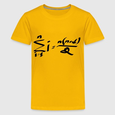 Carl Gauss's formula to quickly add up all numbers from 1 to n. - Kids' Premium T-Shirt