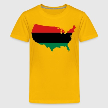 African American _ Red, Black & Green Colors - Kids' Premium T-Shirt