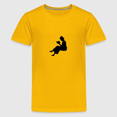 Lady reading 2 - Kids' Premium T-Shirt