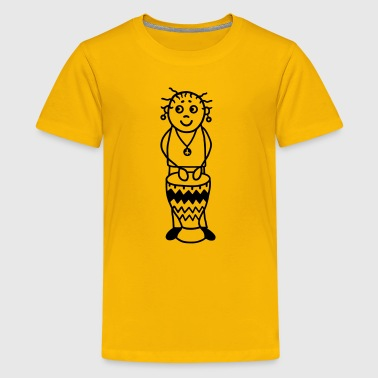 Drummer woman with Djembe - Percussion - Kids' Premium T-Shirt