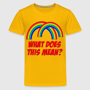Double Rainbow What Does This Mean? - Kids' Premium T-Shirt
