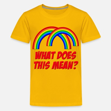 Double Meaning Double Rainbow What Does This Mean? - Kids' Premium T-Shirt