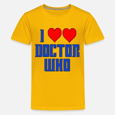 Timelord I Heart Love Doctor Who Dr. - Kids' Premium T-Shirt