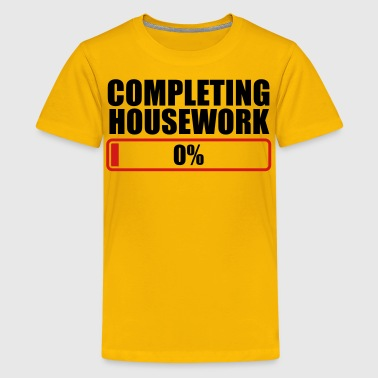 COMPLETING HOUSEWORK 0% PROGRESS BAR - Kids' Premium T-Shirt