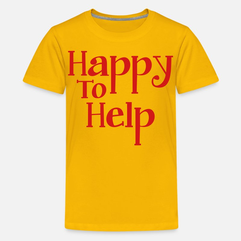 Shopping T-Shirts - Happy to help - Kids' Premium T-Shirt sun yellow