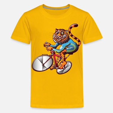 Mental Toughness Olympic Cycling Tiger - Kids' Premium T-Shirt