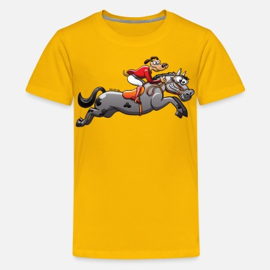 Equestrian Competition Olympic Equestrian Jumping Dog - Kids' Premium T-Shirt