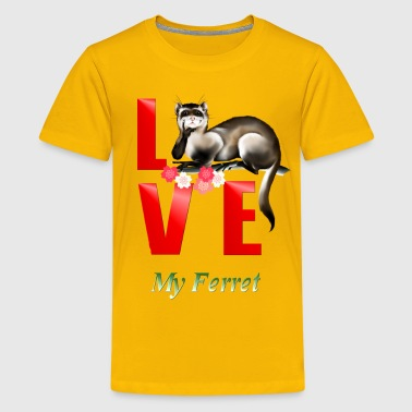 Love My Ferret - Kids' Premium T-Shirt