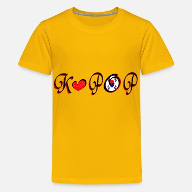 Flags Kpop kpop txt red heart art - Kids' Premium T-Shirt