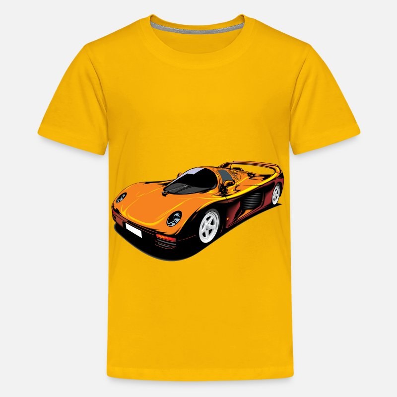 Automobile T-Shirts - Car - Kids' Premium T-Shirt sun yellow