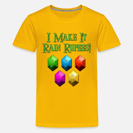 Money T-Shirts - I Make It Rain Rupees! Zelda - Kids' Premium T-Shirt sun yellow