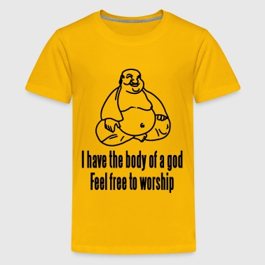 Body of a God Fat Budha - Kids' Premium T-Shirt